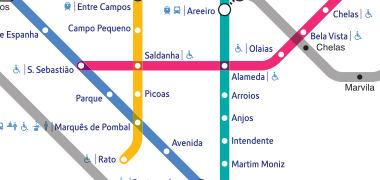 mapa metro lisboa actualizado Mapa del Metro de Lisboa | Voy a Lisboa   Guía de Lisboa mapa metro lisboa actualizado