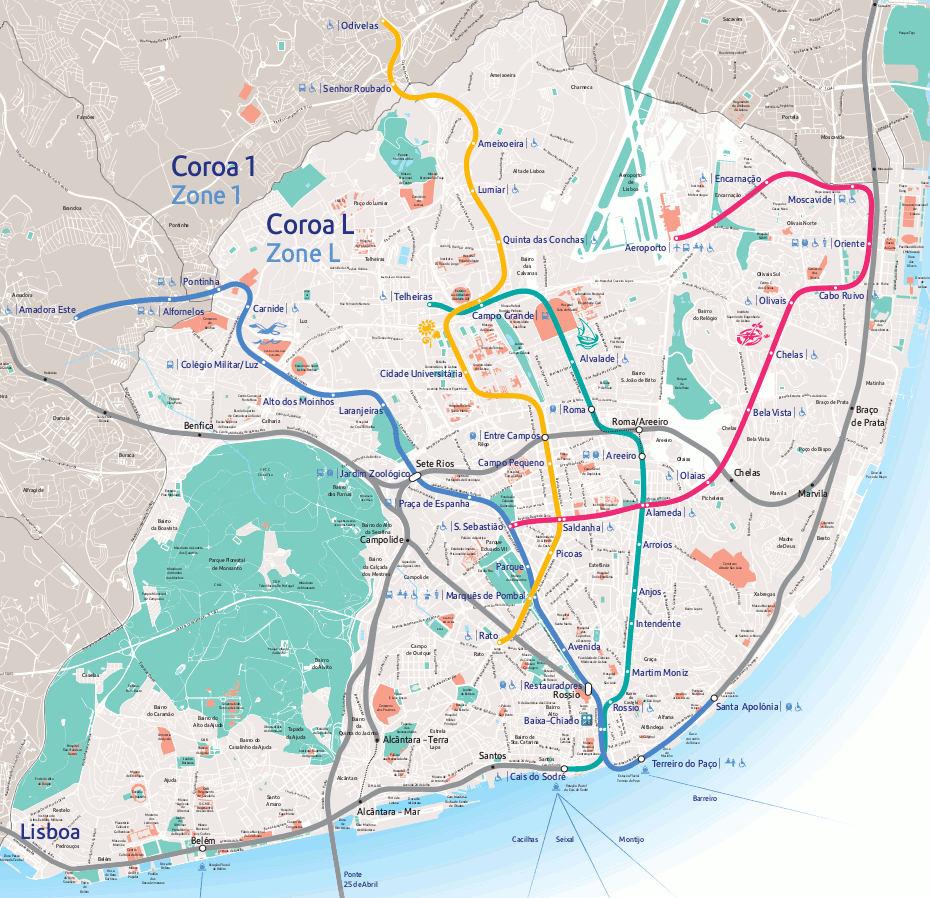 mapa lisboa pdf Mapa del Metro de Lisboa | Voy a Lisboa   Guía de Lisboa mapa lisboa pdf